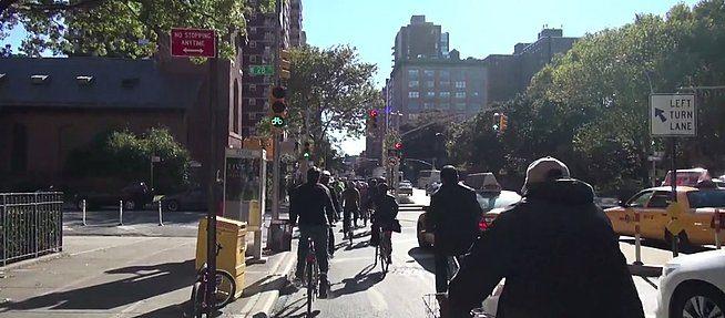Ciclovia em Nova York: fruto de planejamento. (Foto: Reprodução DOT/NYC)