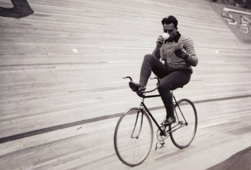 cyclist and coffe